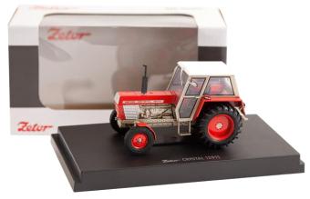 Model traktoru ZETOR Crystal 12011 červený
