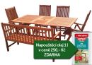 Zahradní nábytek TEXIM sestava Viet 1+1+4 + napouštěcí olej 1l zdarma