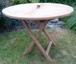 Zahradní skládací stůl TEXIM teakový oválný 100 cm