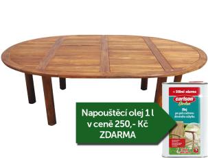 Zahradní stůl TEXIM Palu + napouštěcí olej 1l zdarma