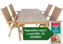 Zahradní nábytek TEXIM sestava Garden II. 1+4 + napouštěcí olej 2l zdarma