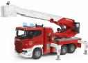Požární auto Scania R s vodním čerpadlem BRUDER 03590