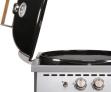 Plynový gril OUTDOORCHEF Venezia 570 G Onyx s kloubovým víkem pro co nejpohodlnější práci