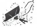 Shrnovací radlice k zahradnímu traktoru VARES Standard 1,18m - rozkres