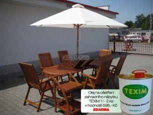 Zahradní nábytek TEXIM sestava Mimosa II. včetně 2 l oleje na ošetření zahradního nábytku