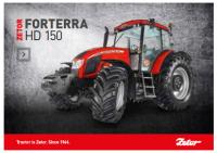 Plakát ZETOR Forterra HD 150 studio A1