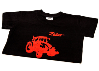 Dětské černé tričko ZETOR pro 4-leté děti