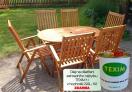 Zahradní nábytek TEXIM sestava Carol 1+6 včetně ošetřovacího oleje
