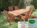 Zahradní nábytek TEXIM sestava Viet 1H+6 včetně oleje na ošetření zahradního nábytku