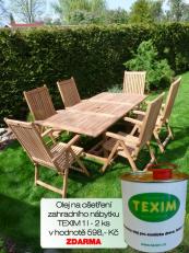 Zahradní nábytek TEXIM sestava Palu 1+6 včetně 2 l oleje na napouštění zahradního nábytku ZDARMA