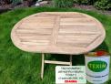 Zahradní skládací stůl TEXIM 120 x 90 cm