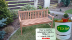 Zahradní lavice 150 cm TEXIM Roma včetně 1 oleje na napouštění zahradního nábytku ZDARMA