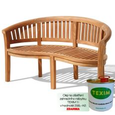 Zahradní lavice TEXIM Peanut Banana 160 cm včetně 1 l oleje na napouštění zahradního nábytku ZDARMA