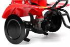 Benzínový rotavátor HECHT 778 - detail kultivačních nožů a bočních ocelových kotoučů