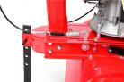 Benzínový rotavátor HECHT 778 - detail zadní ostruhy, která slouží jako brzda, jako opěra v klidovém stavu, a zároveň zkvalitňuje rozmělnění půdy