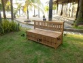 Zahradní lavice s úložným prostorem TEXIM - rozměry lavice