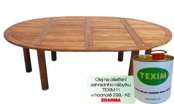 Zahradní stůl TEXIM Palu včetně 1 l oleje na napouštění zahradního nábytku ZDARMA