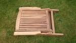 Zahradní nábytek TEXIM sestava Alfi II. - detail složeného křesla