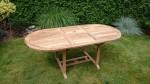 Zahradní nábytek TEXIM sestava Alfi II. - oválný stůl lze snadno a rychle složit/rozložit