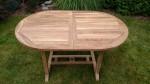 Zahradní nábytek TEXIM sestava Alfi II. - bytelný stůl z tvrdého teakového dřeva