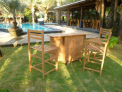 Zahradní pojizdný bar TEXIM je elegantním doplňkem každé zahrady