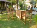 Zahradní pojizdný bar TEXIM lze dle potřeby složit/rozložit