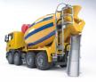 Míchačka na beton Scania R BRUDER 03554 s prodlouženou výsypkou