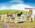 Sada pro koně BRUDER 62500 s rozšířením o další figurky lidí a zvířat
