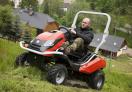 Mulčovací traktor SECO Goliath 4x4 výborně zvládá náročný, jinou technikou nepřípustný terén