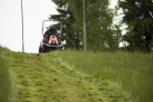 Mulčovací traktor SECO Goliath 4x4 - úprava sjezdových tratí