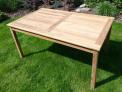 Zahradní nábytek TEXIM sestava Clasic I. 1+4 - hranatý stůl 150 x 90 x 74 cm s otvorem na slunečník