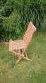 Zahradní skládací židle TEXIM je vyrobena z tvrdého teakového dřeva