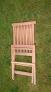 Zahradní teaková židle TEXIM lze snadno a rychle složit/rozložit