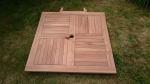 Zahradní stůl TEXIM lze rychle a snadno složit/rozložit a uskladnit