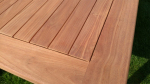 Zahradní stůl TEXIM 180 x 100 cm - detail velmi odolného teakové dřeva