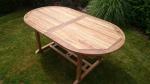 Zahradní skládací stůl TEXIM Faisal je vyroben z tvrdého teakového dřeva