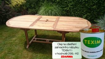 Zahradní skládací stůl TEXIM Faisal včetně 1 oleje na napouštění zahradního nábytku ZDARMA