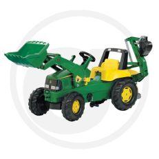 Dětské šlapadlo - traktorbagr ROLLY TOYS JOHN DEERE
