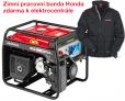 Jednofázová elektrocentrála HONDA EG 3600 + zimní pracovní bunda Honda zdarma