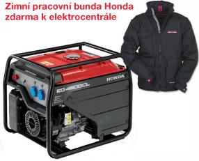 Jednofázová elektrocentrála HONDA EG 4500 + zimní pracovní bunda Honda zdarma