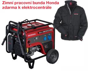 Jednofázová elektrocentrála HONDA EM 4500 + zimní pracovní bunda Honda zdarma