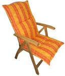 Látkový polstr na polohovací křeslo TEXIM oranžový