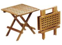 Malý teakový piknikový stolek 50 x 50 cm TEXIM