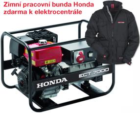 Třífázová elektrocentrála HONDA ECT 7000 + zimní pracovní bunda Honda zdarma