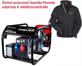 Třífázová elektrocentrála HONDA TP 15 H AVR s podvozkem + zimní pracovní bunda Honda zdarma