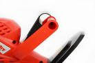 Elektrické nůžky na živý plot HECHT 606 - přední rukojeť s bezpečnostními prvky