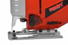 Elektrická přímočará pila HECHT 1568 - na boku je ovladač nastavení předkmitu a odsávání