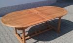 Zahradní skládací stůl TEXIM Extra - detail složeného stolu
