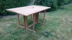 Zahradní skládací stůl TEXIM Butterfly/Beverly 150 x 90 cm - krásný designový stůl z teakového dřeva