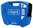 Bezolejový kompresor SCHEPPACH Air Force s veškerým příslušenstvím je uložen v praktickém kufru